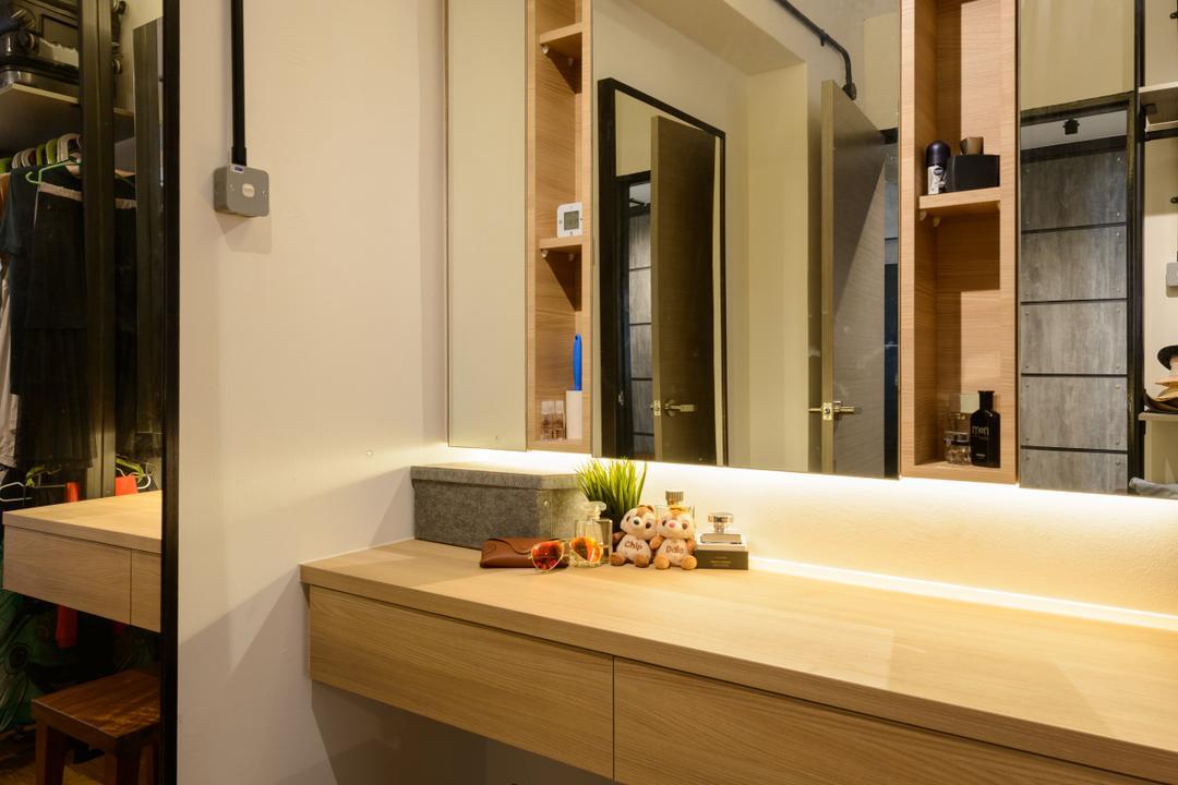 Pasir Ris (Block 554), Kome Interior, Scandinavian, Industrial, Bathroom, HDB, Indoors, Interior Design, Couch, Furniture, Sink, Appliance, Electrical Device, Oven