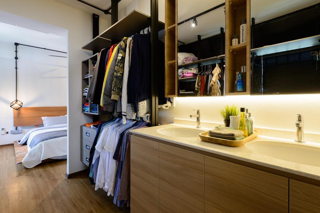 Scandinavian, HDB, Bedroom, Pasir Ris (Block 554), Interior Designer, Kome Interior, Industrial