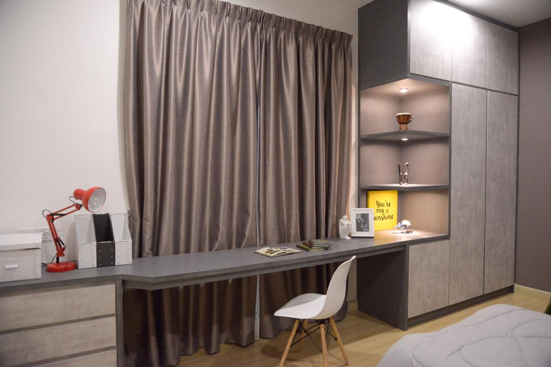 X2 Residence, Puchong, Zyon Studio Sdn. Bhd., Modern, Study, Condo, Suspended Study, Workspace, Dining Table, Furniture, Table