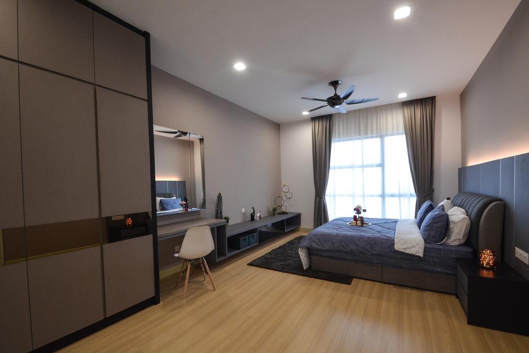 X2 Residence, Puchong, Zyon Studio Sdn. Bhd., Modern, Condo, Door, Sliding Door, Indoors, Interior Design