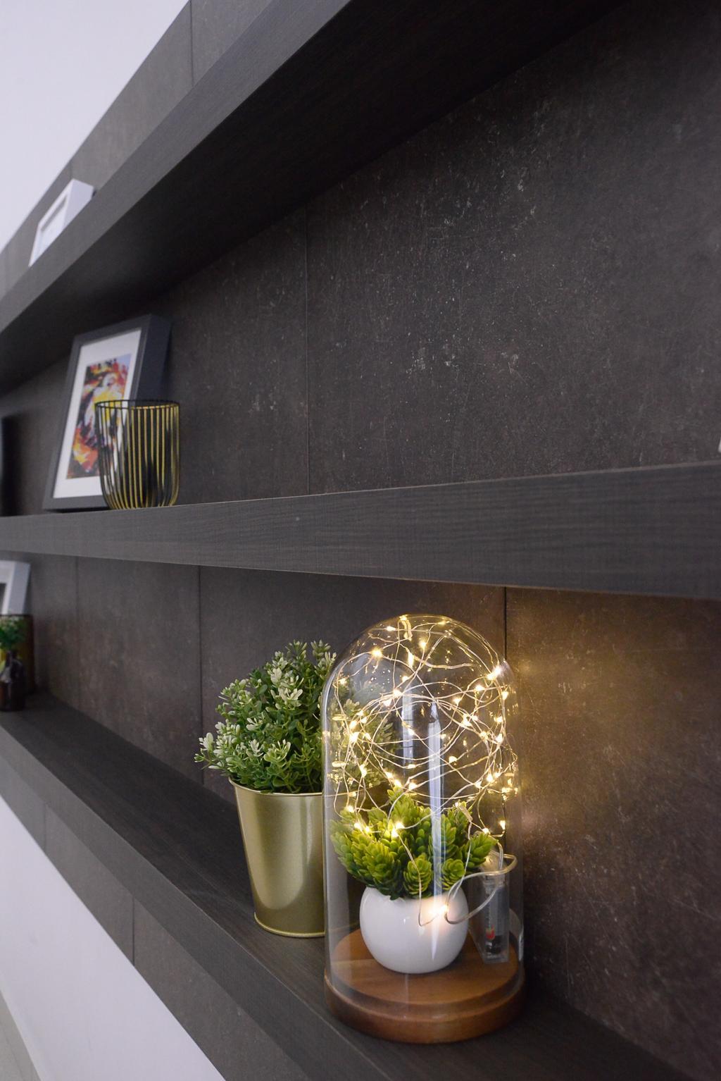 Contemporary, Landed, Living Room, Long Branch Residence, Kota Kemuning, Interior Designer, Zyon Studio Sdn. Bhd., Coffee Table, Furniture, Table, Flora, Jar, Plant, Potted Plant, Pottery, Vase