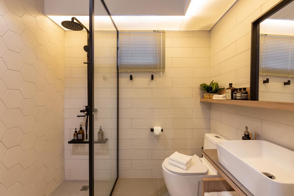 Scandinavian, HDB, Bathroom, Punggol East, Interior Designer, Mr Shopper Studio, Indoors, Interior Design, Room