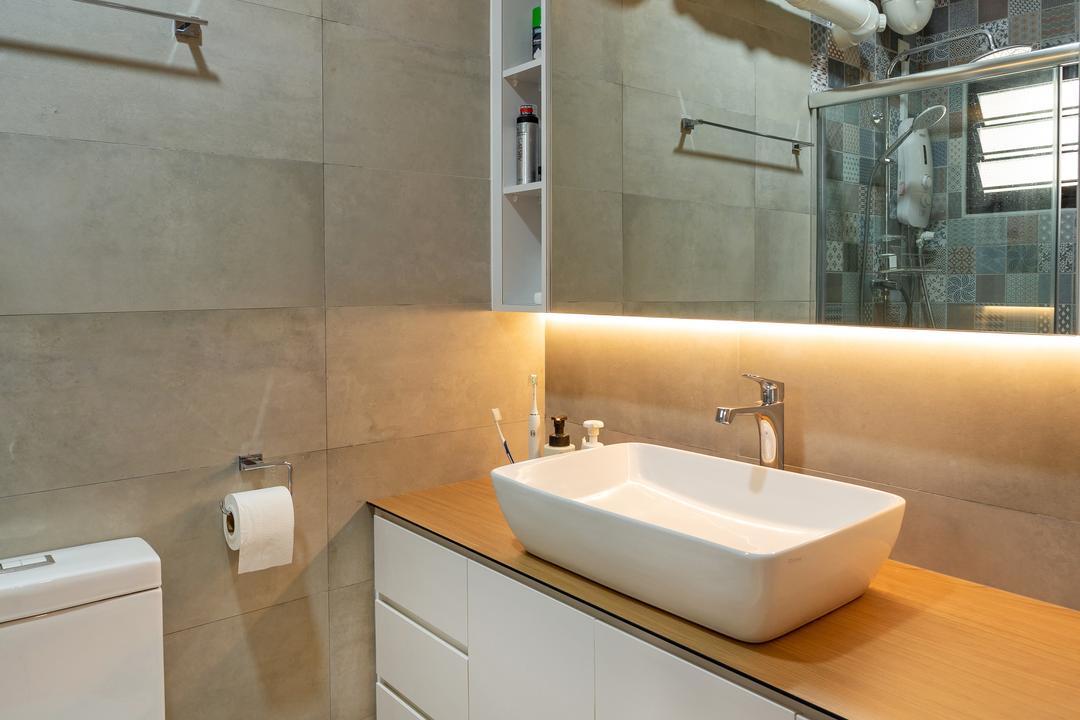 Ang Mo Kio Street 31, The Roomakers, Scandinavian, Bathroom, HDB, Sink, Paper, Paper Towel, Tissue, Toilet Paper, Towel, Indoors, Interior Design, Room
