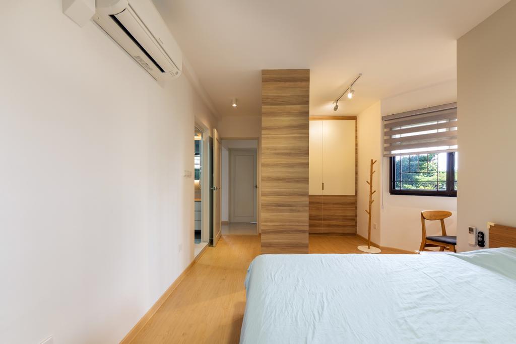 Scandinavian, HDB, Ang Mo Kio Street 31, Interior Designer, The Roomakers, Window, Bedroom, Indoors, Interior Design, Room, Furniture