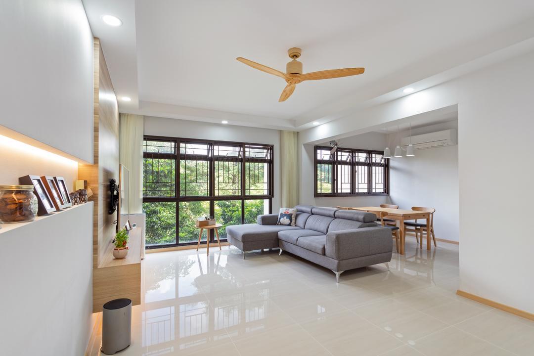 Ang Mo Kio Street 31, The Roomakers, Scandinavian, Living Room, HDB, Window, Indoors, Interior Design
