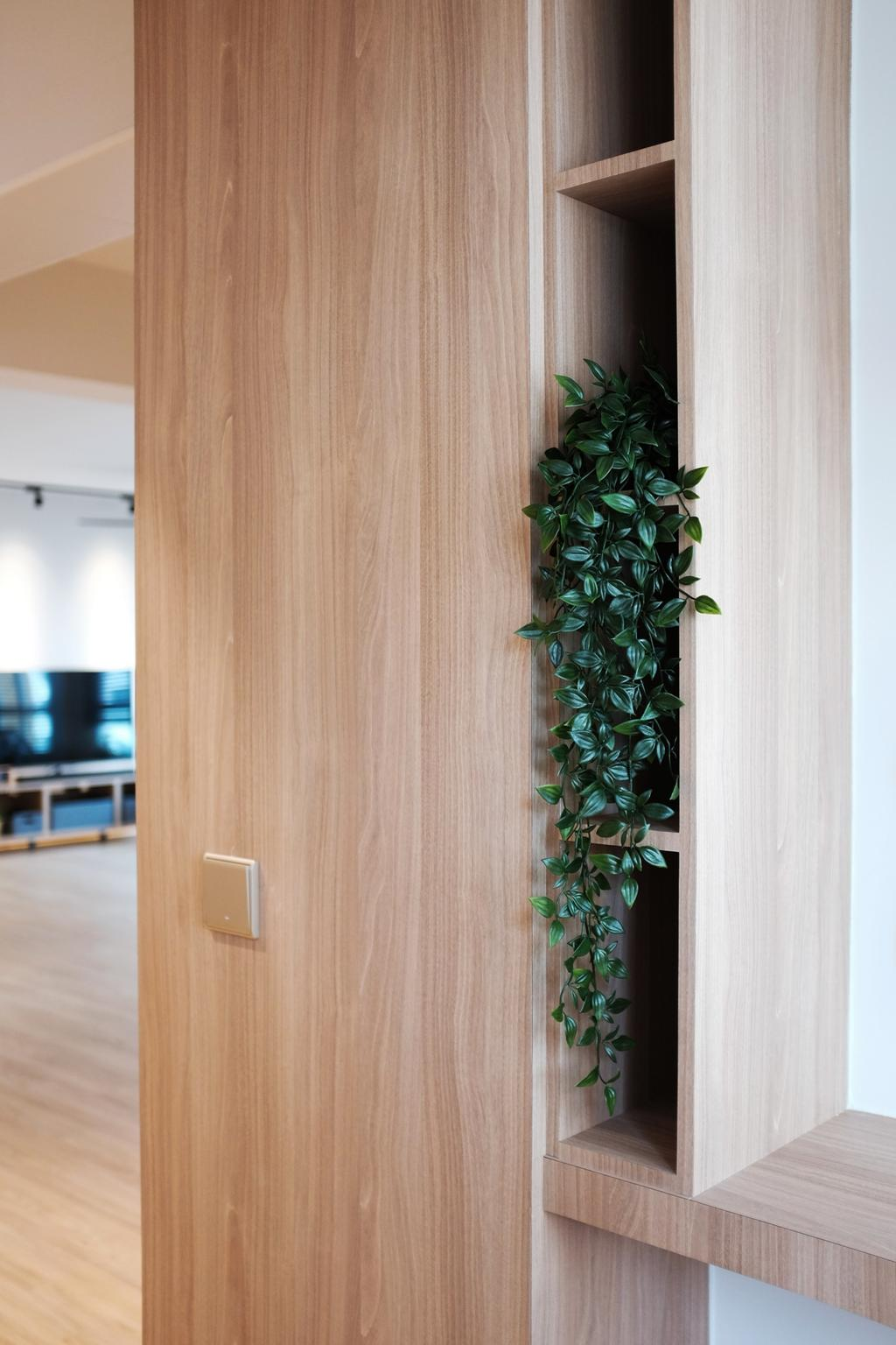 Scandinavian, HDB, Yishun Ring Road, Interior Designer, KDOT, Flora, Ivy, Plant, Jar, Potted Plant, Pottery, Vase