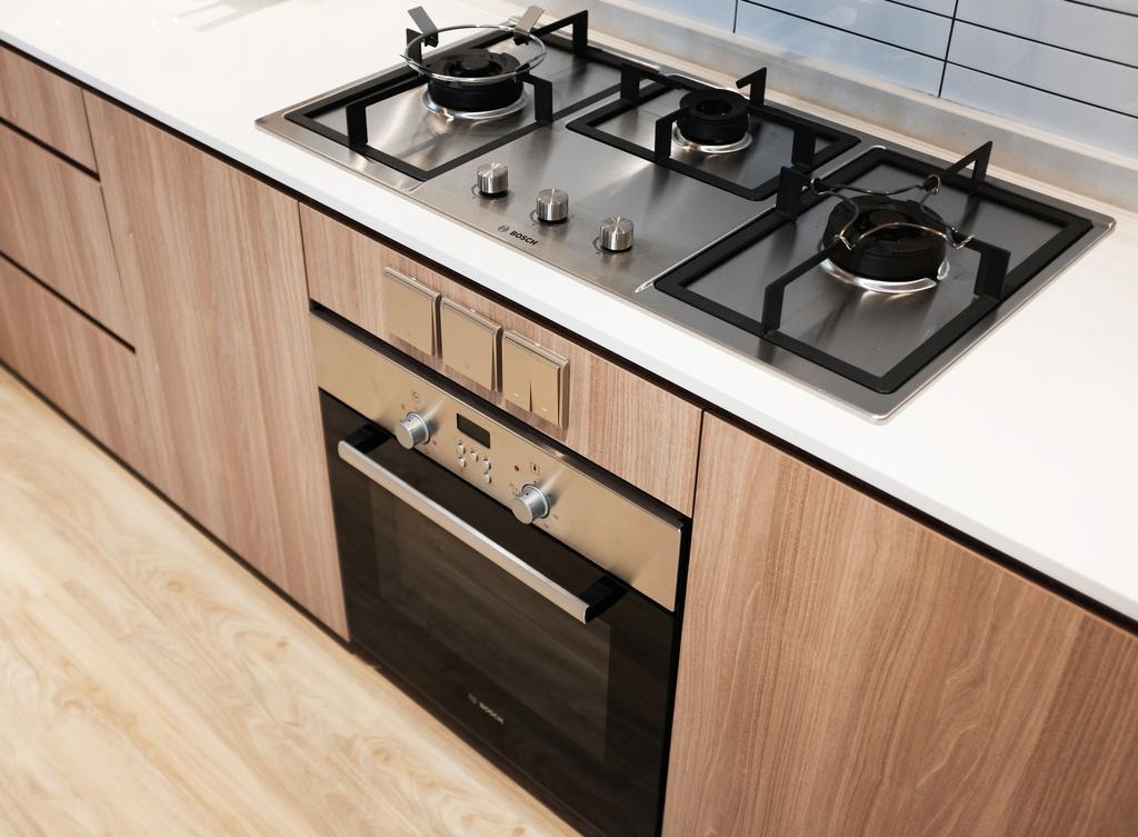 Scandinavian, HDB, Kitchen, Yishun Ring Road, Interior Designer, KDOT, Appliance, Electrical Device, Oven