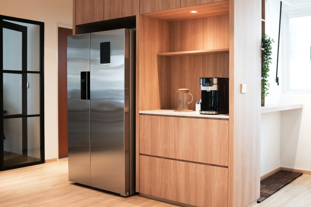 Yishun Ring Road, KDOT, Scandinavian, Kitchen, HDB, Appliance, Electrical Device, Fridge, Refrigerator