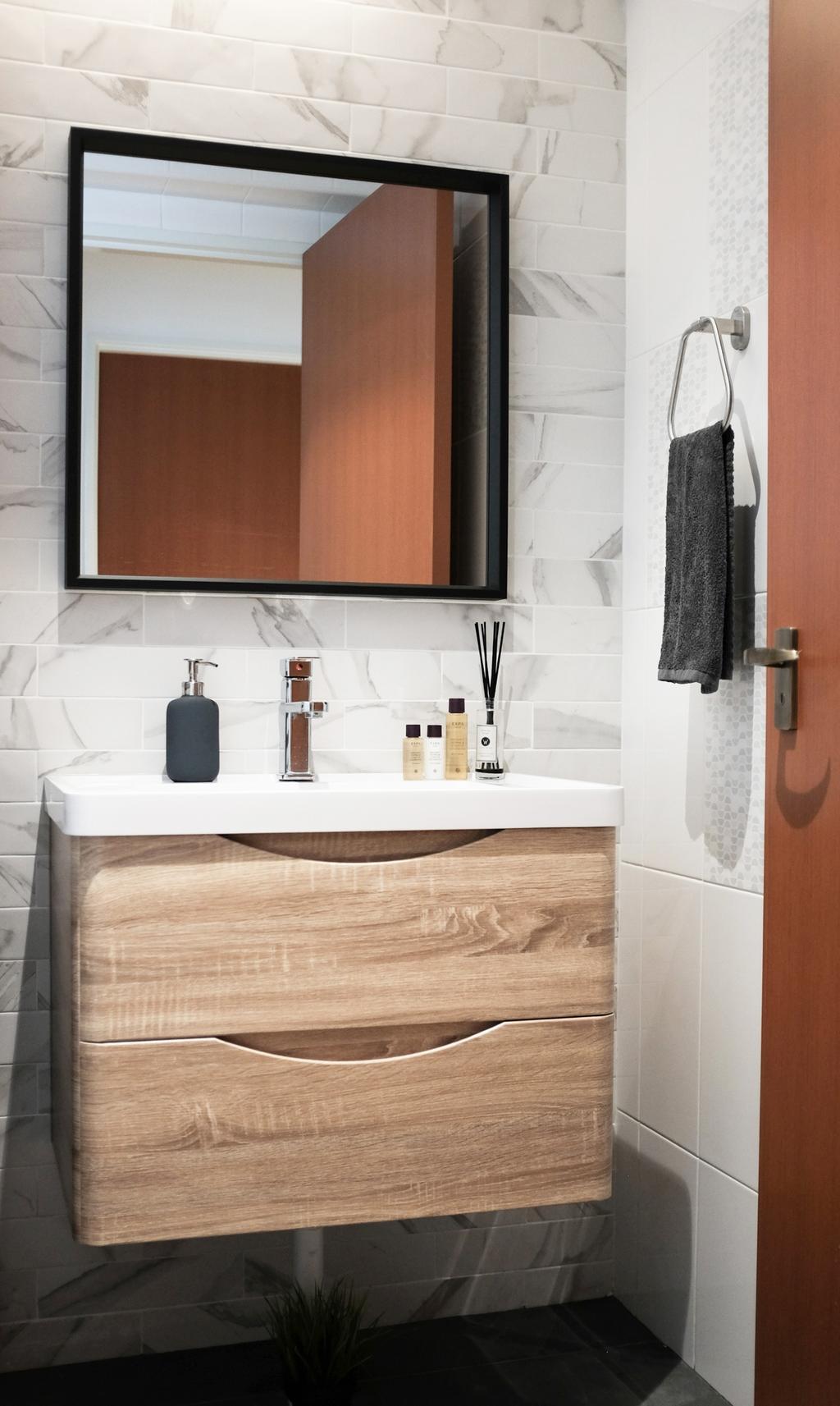 Scandinavian, HDB, Bathroom, Yishun Ring Road, Interior Designer, KDOT, Indoors, Interior Design, Room