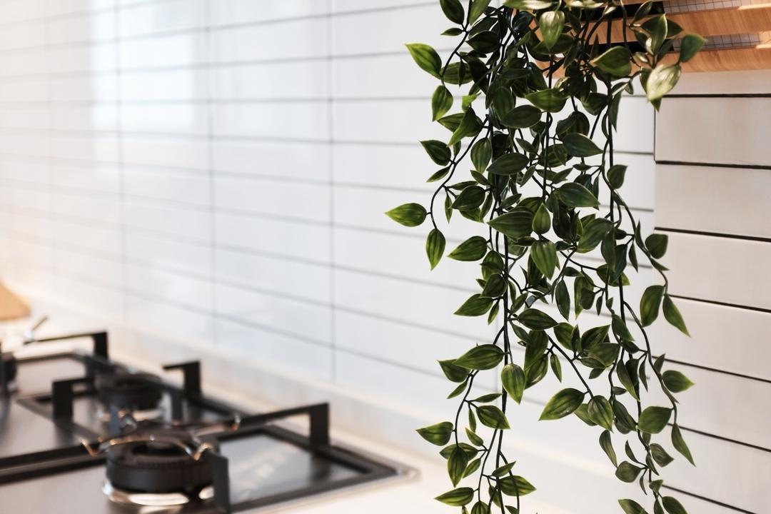 Yishun Ring Road, KDOT, Scandinavian, Kitchen, HDB, Flora, Jar, Plant, Potted Plant, Pottery, Vase, Leaf