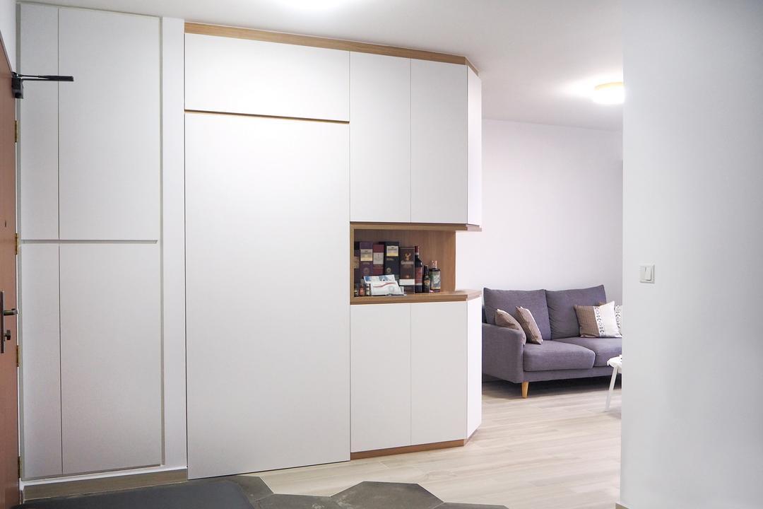 Clementi Gateway, Roughsketch, Modern, Living Room, HDB, Door, Sliding Door