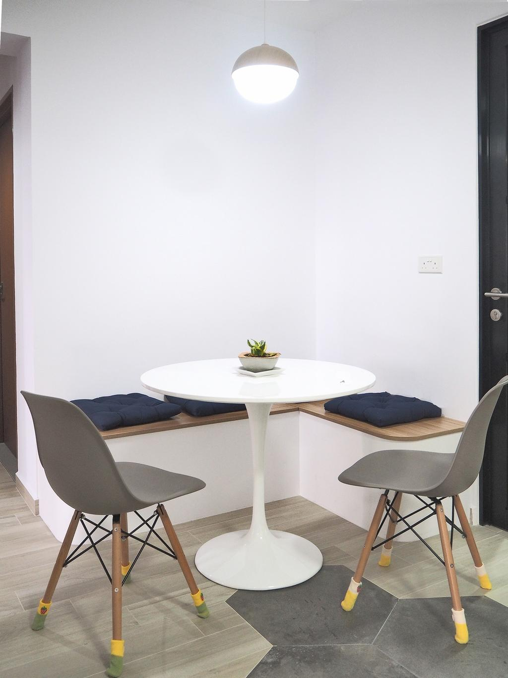 Modern, HDB, Dining Room, Clementi Gateway, Interior Designer, Roughsketch, Chair, Furniture, Dining Table, Table