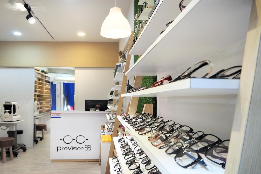 Provision 88, Roughsketch, Minimalistic, Commercial, Indoors, Interior Design, Shelf