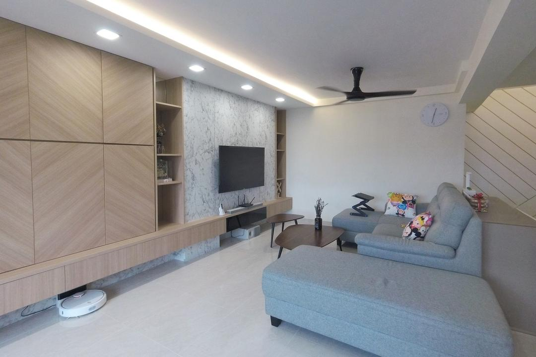 Sims Drive, Roughsketch, Modern, Living Room, HDB, Couch, Furniture, Blackboard, Indoors, Room