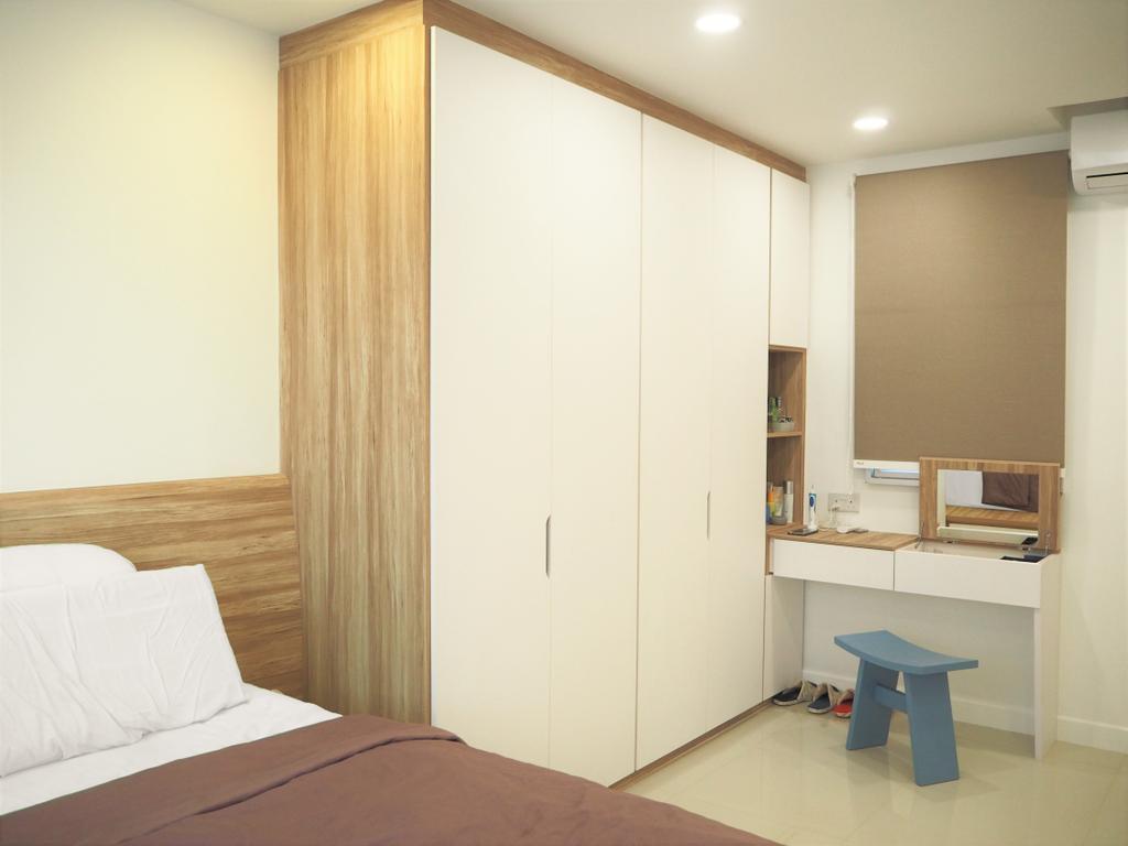 Scandinavian, HDB, Bedroom, Tree Trail @ Woodlands, Interior Designer, Roughsketch, Indoors, Interior Design, Room, Furniture, Table