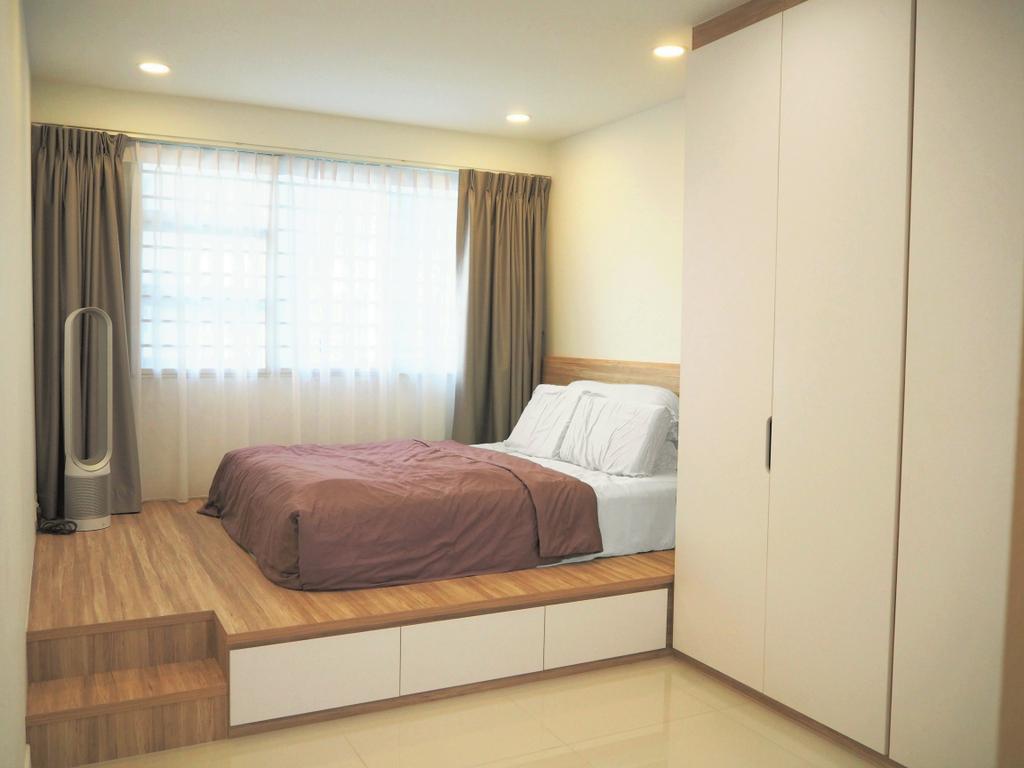 Scandinavian, HDB, Bedroom, Tree Trail @ Woodlands, Interior Designer, Roughsketch, Bed, Furniture, Indoors, Interior Design, Room