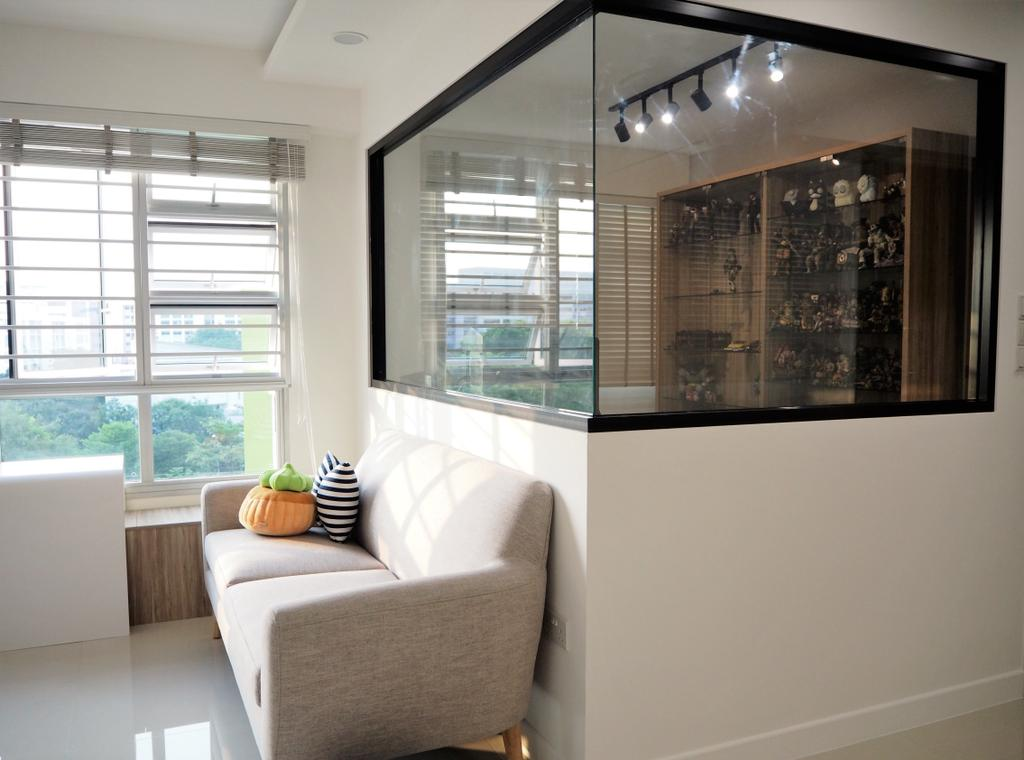 Scandinavian, HDB, Living Room, Tree Trail @ Woodlands, Interior Designer, Roughsketch, Couch, Furniture