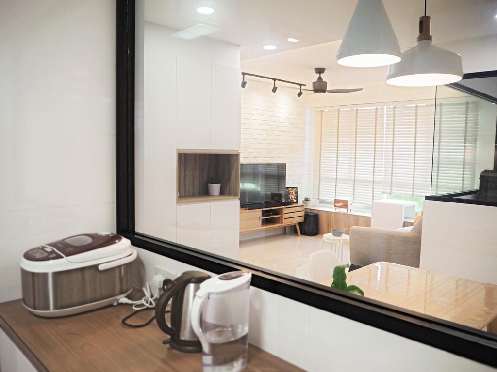 Scandinavian, HDB, Tree Trail @ Woodlands, Interior Designer, Roughsketch, Appliance, Electrical Device, Oven, Indoors, Interior Design, Kitchen, Room