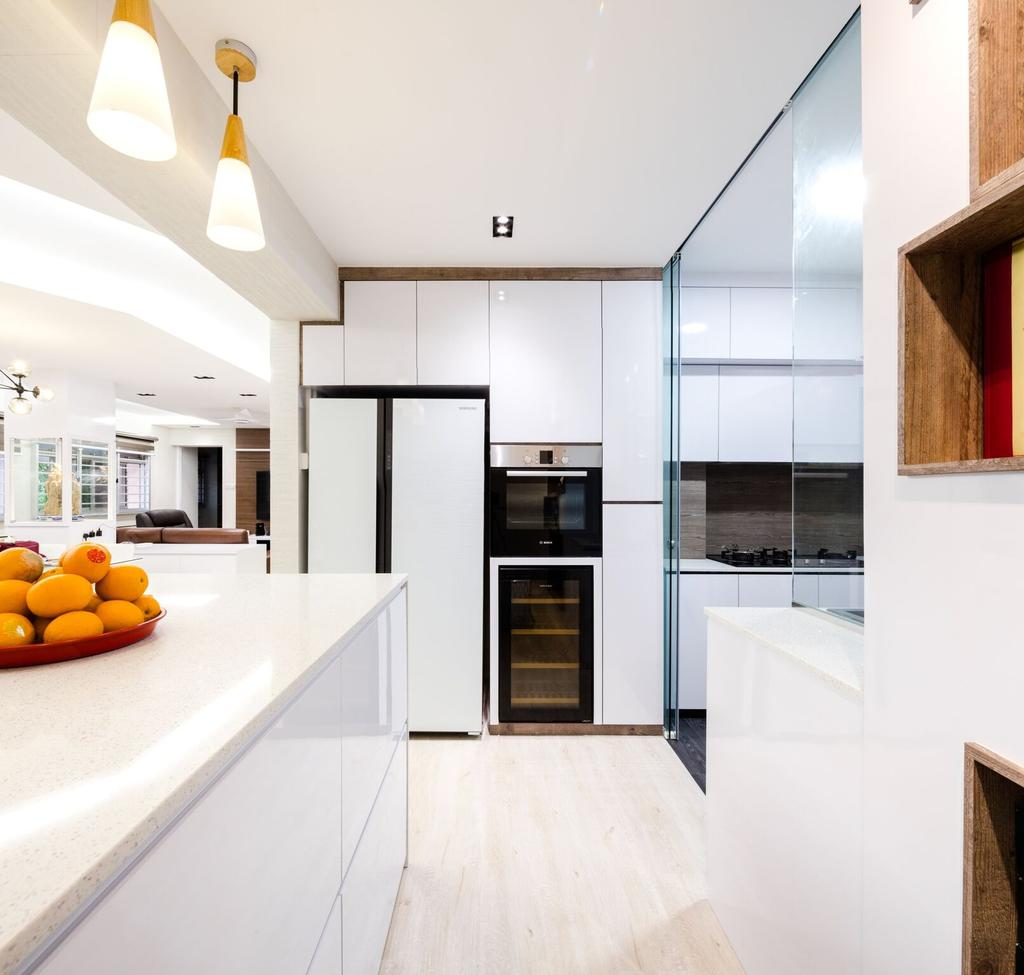 Modern, HDB, Kitchen, Choa Chu Kang Street 51, Interior Designer, Azcendant, Citrus Fruit, Flora, Food, Fruit, Grapefruit, Orange, Plant, Produce, Indoors, Interior Design, Room