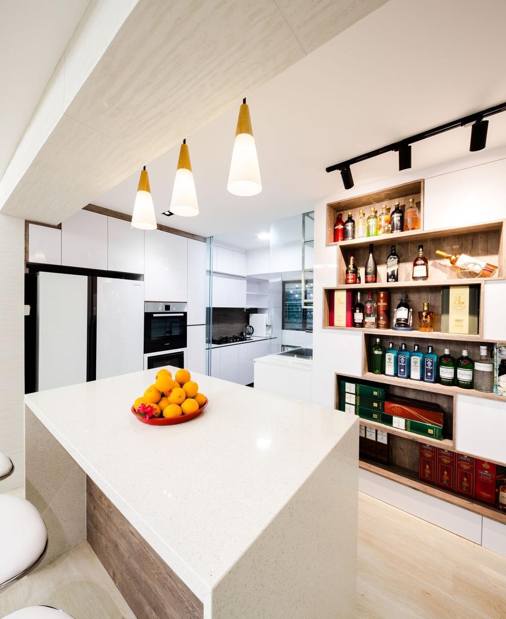 Modern, HDB, Choa Chu Kang Street 51, Interior Designer, Azcendant, Indoors, Interior Design