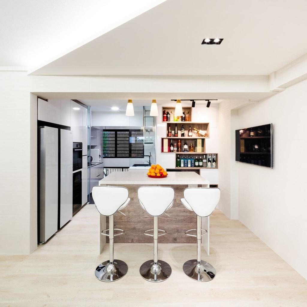 Modern, HDB, Dining Room, Choa Chu Kang Street 51, Interior Designer, Azcendant, Indoors, Interior Design, Room, Dining Table, Furniture, Table, Chair