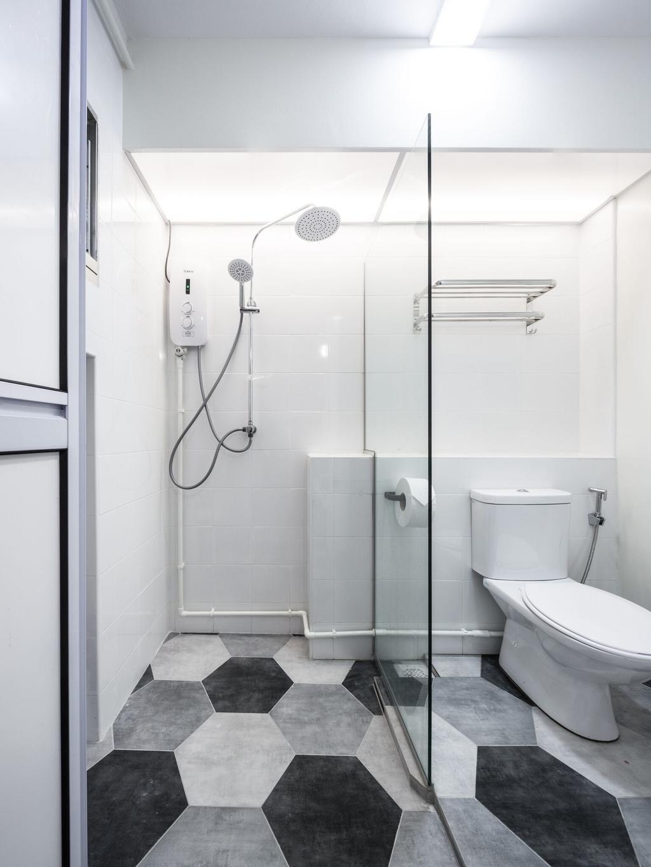 Modern, HDB, Bathroom, Choa Chu Kang Street 51, Interior Designer, Azcendant, Toilet, Indoors, Interior Design, Room