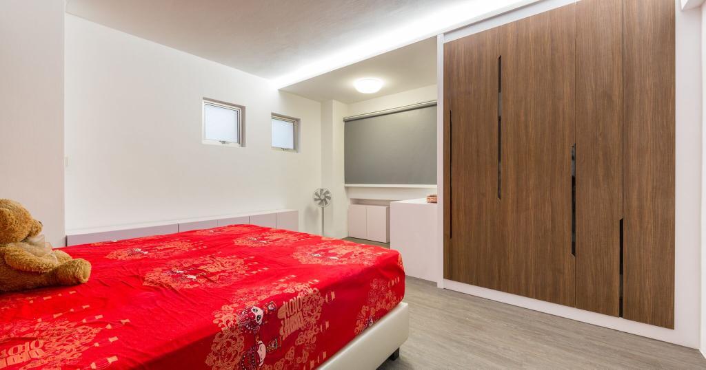 Modern, HDB, Bedroom, Choa Chu Kang Street 51, Interior Designer, Azcendant, Bed, Furniture, Molding, Indoors, Room