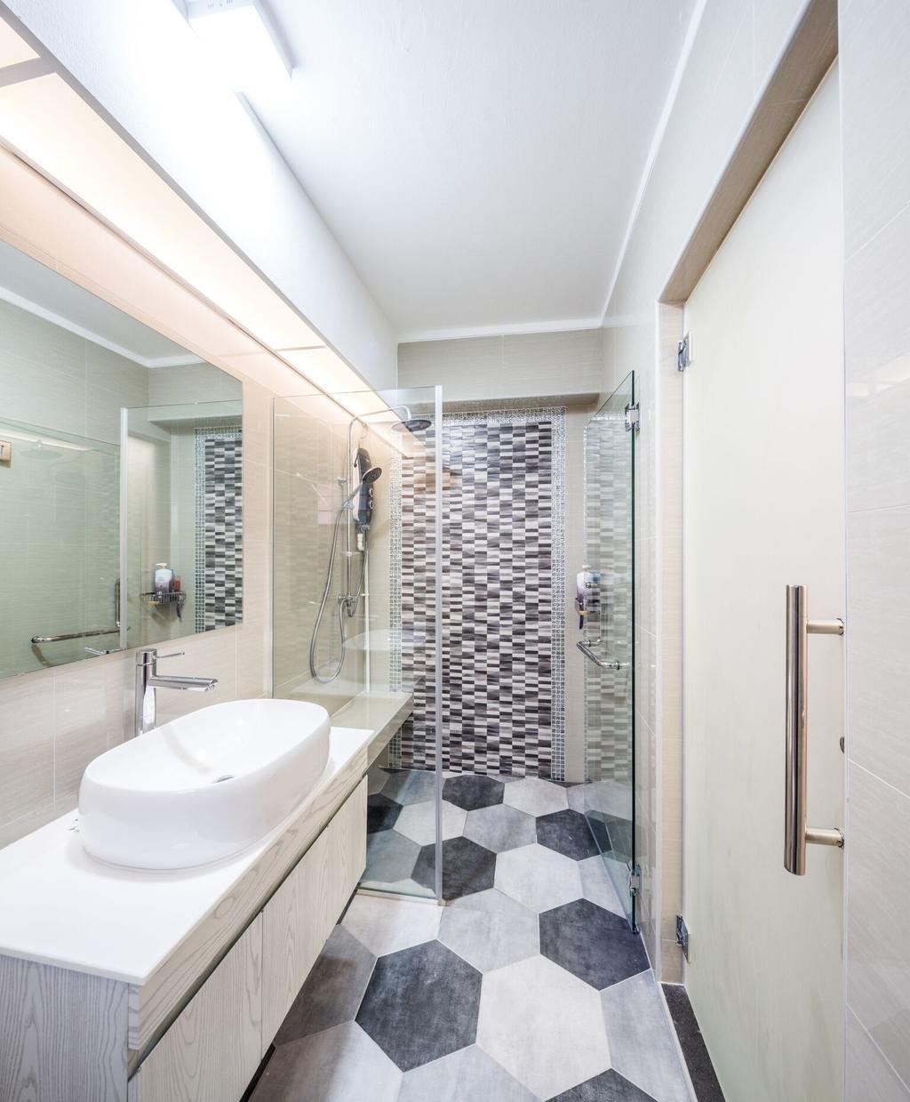 Modern, HDB, Bathroom, Choa Chu Kang Street 51, Interior Designer, Azcendant, Indoors, Interior Design, Room, Sink