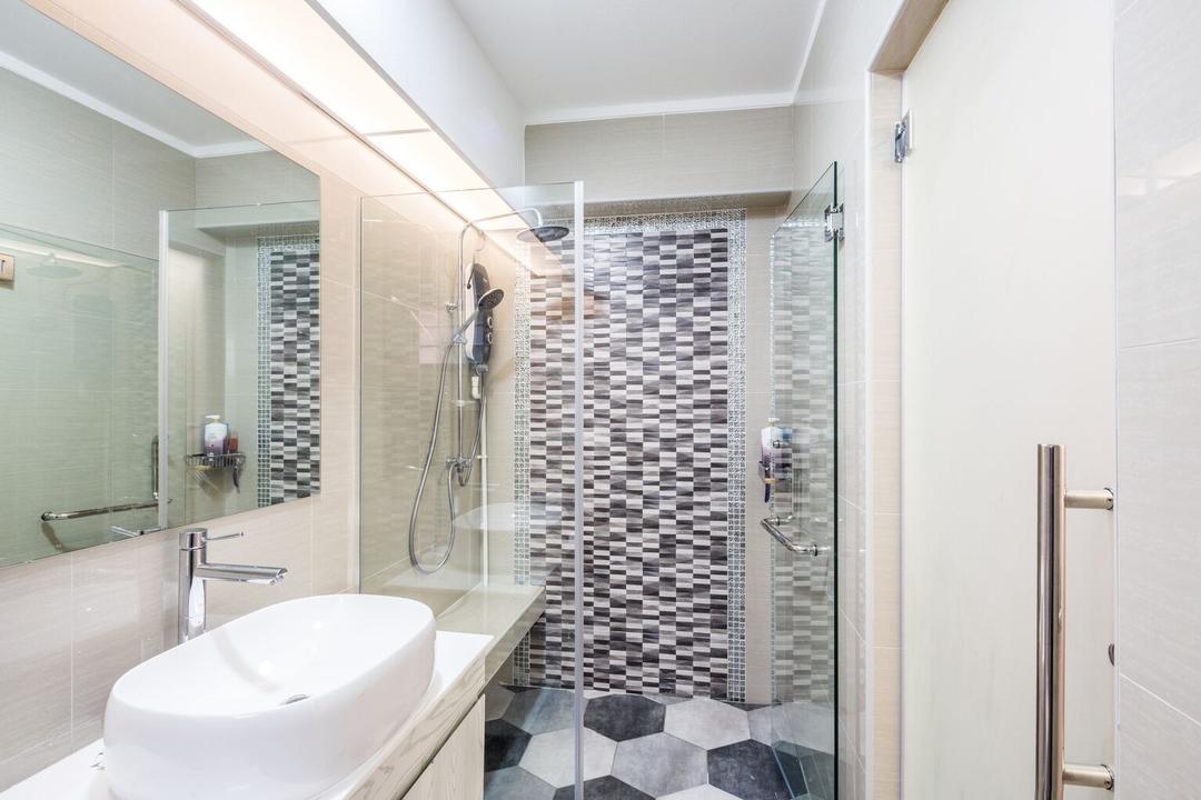 Choa Chu Kang Street 51, Azcendant, Modern, Bathroom, HDB, Indoors, Interior Design, Room, Sink