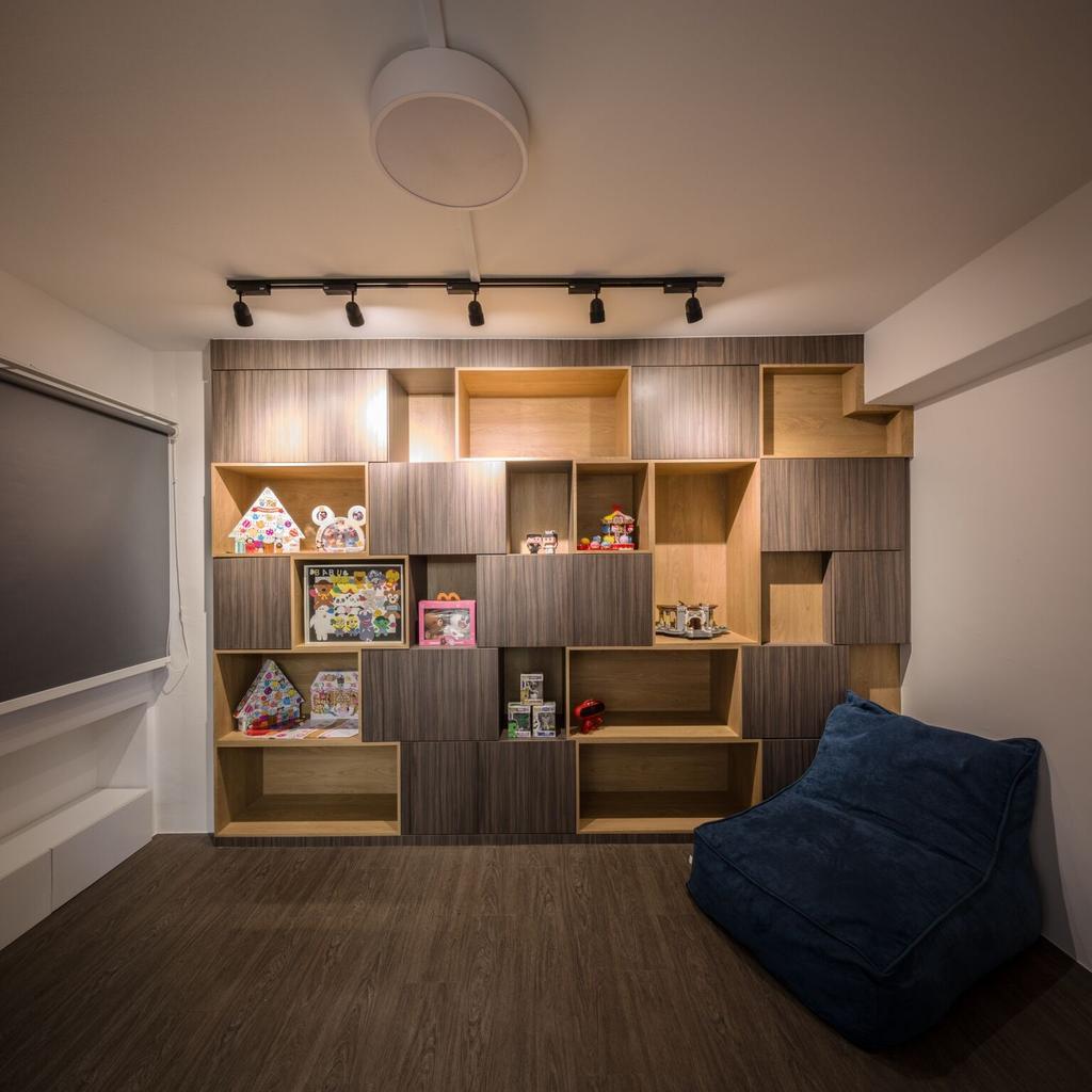 Modern, HDB, Choa Chu Kang Street 51, Interior Designer, Azcendant, Furniture, Sideboard, Bookcase