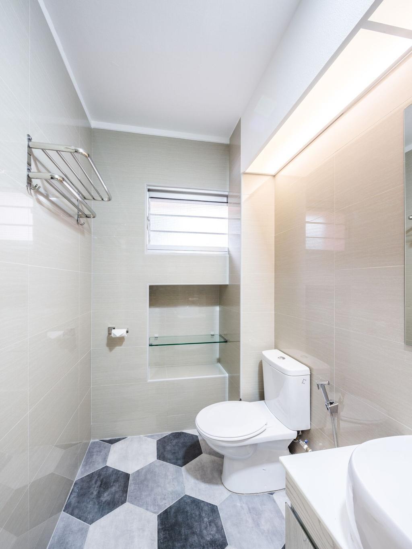 Modern, HDB, Bathroom, Choa Chu Kang Street 51, Interior Designer, Azcendant, Indoors, Interior Design, Room, Toilet