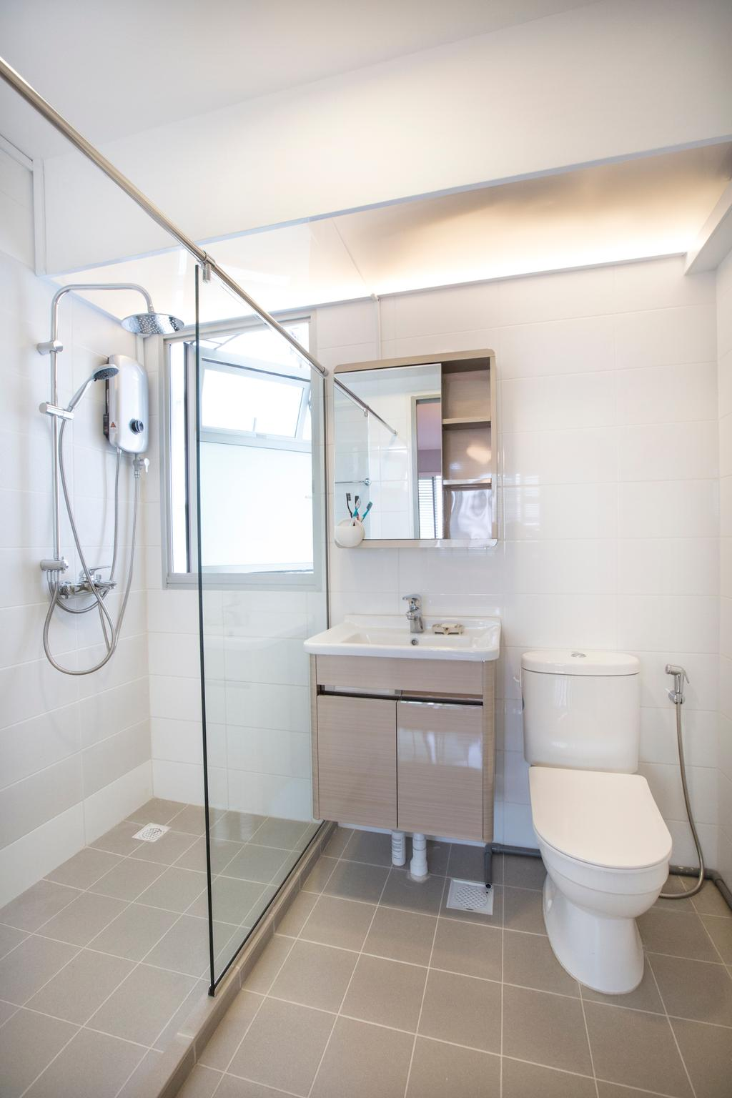 Modern, HDB, Jalan Tenteram, Interior Designer, Azcendant, Bathroom, Indoors, Interior Design, Room
