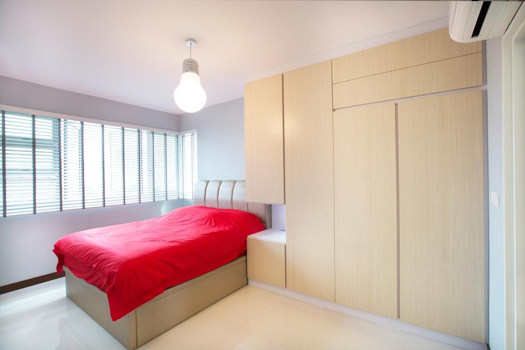 Jalan Tenteram, Azcendant, Modern, Bedroom, HDB, Indoors, Interior Design, Room, Bed, Furniture