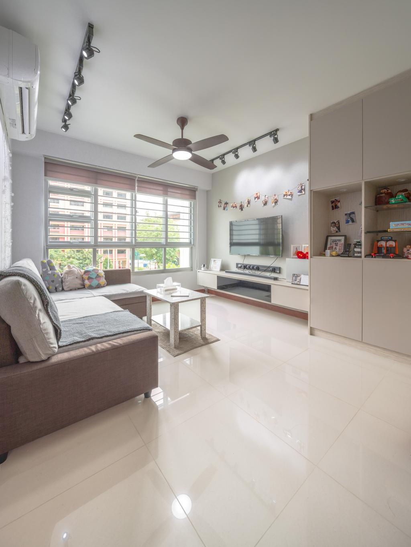 Transitional, HDB, Living Room, Woodlands Drive, Interior Designer, Azcendant, Dining Table, Furniture, Table, Indoors, Interior Design