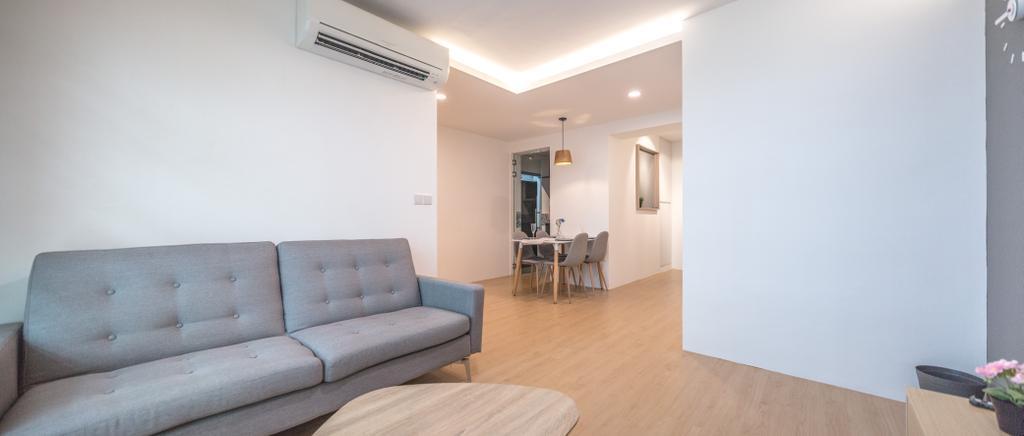 Modern, HDB, Living Room, Woodlands Drive 50, Interior Designer, Azcendant, Couch, Furniture, Dining Table, Table, Indoors, Interior Design