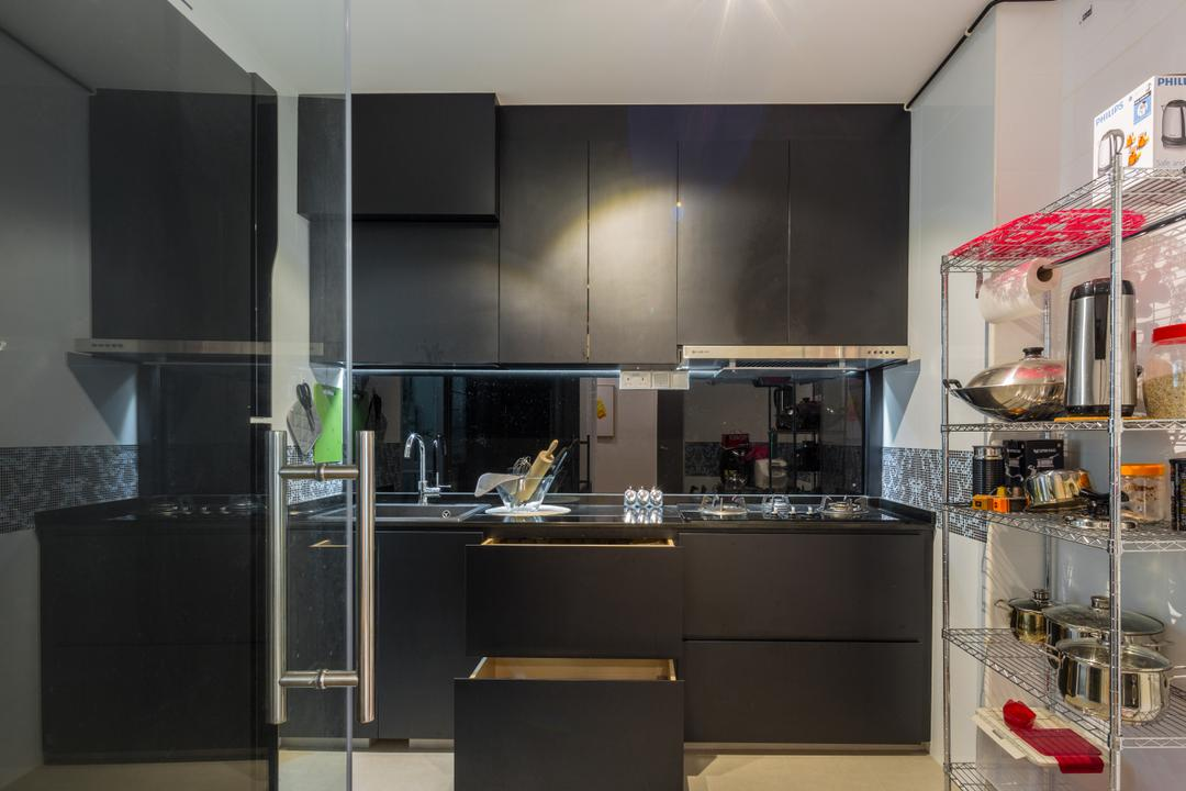Woodlands Drive 50, Azcendant, Modern, Kitchen, HDB, Indoors, Interior Design, Room, Den, Dog House, Kennel