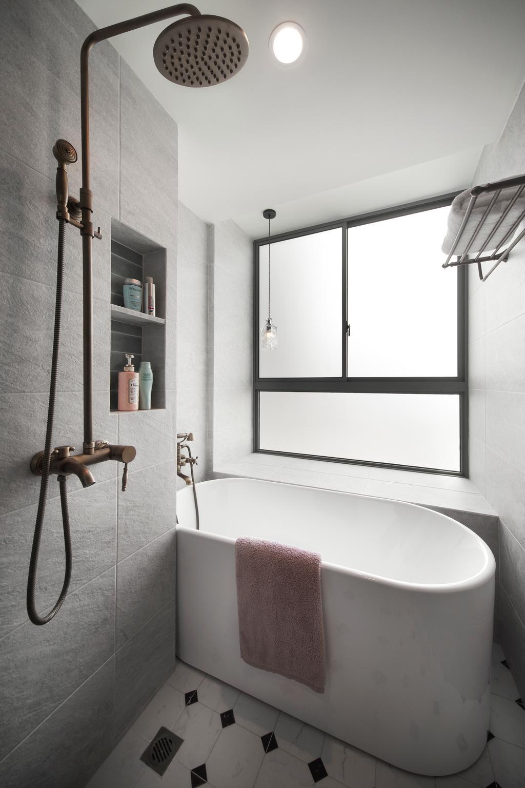 Contemporary, Condo, Bathroom, Grand Duchess, Interior Designer, Fuse Concept, Bath Tub, Bathtub, Indoors, Interior Design, Room
