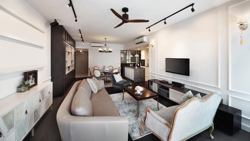 Contemporary, Condo, Living Room, Grand Duchess, Interior Designer, Fuse Concept, Chair, Furniture, Indoors, Room