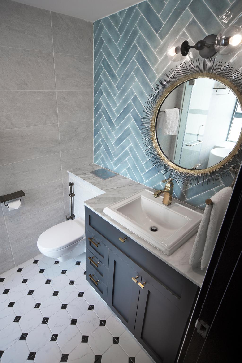 Contemporary, Condo, Bathroom, Grand Duchess, Interior Designer, Fuse Concept, Toilet, Bench, Indoors, Interior Design, Room