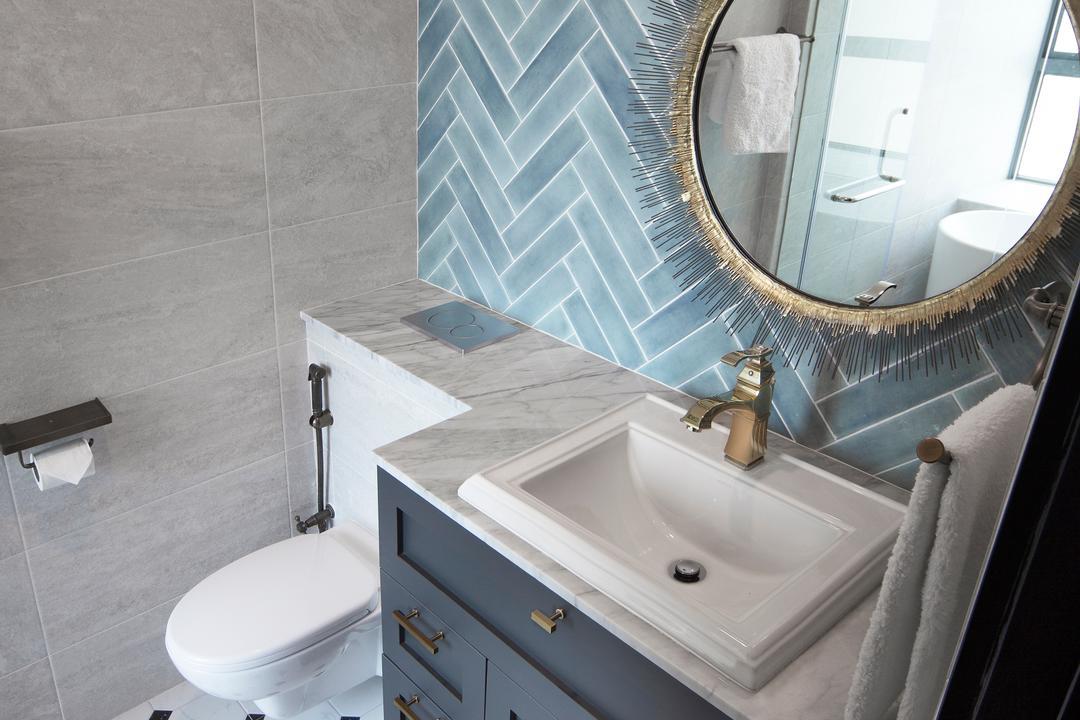 Grand Duchess, Fuse Concept, Contemporary, Bathroom, Condo, Toilet, Bench, Indoors, Interior Design, Room