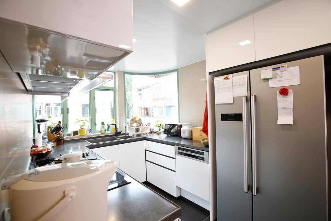 湖景花園, 和生設計, 隨性, 廚房, 獨立屋, Sink, Appliance, Electrical Device, Fridge, Refrigerator, Indoors, Interior Design, Room