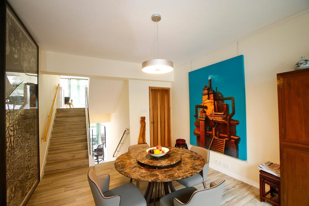隨性, 獨立屋, 飯廳, 湖景花園, 室內設計師, 和生設計, Indoors, Interior Design, Room, Chair, Furniture, Banister, Handrail, Staircase