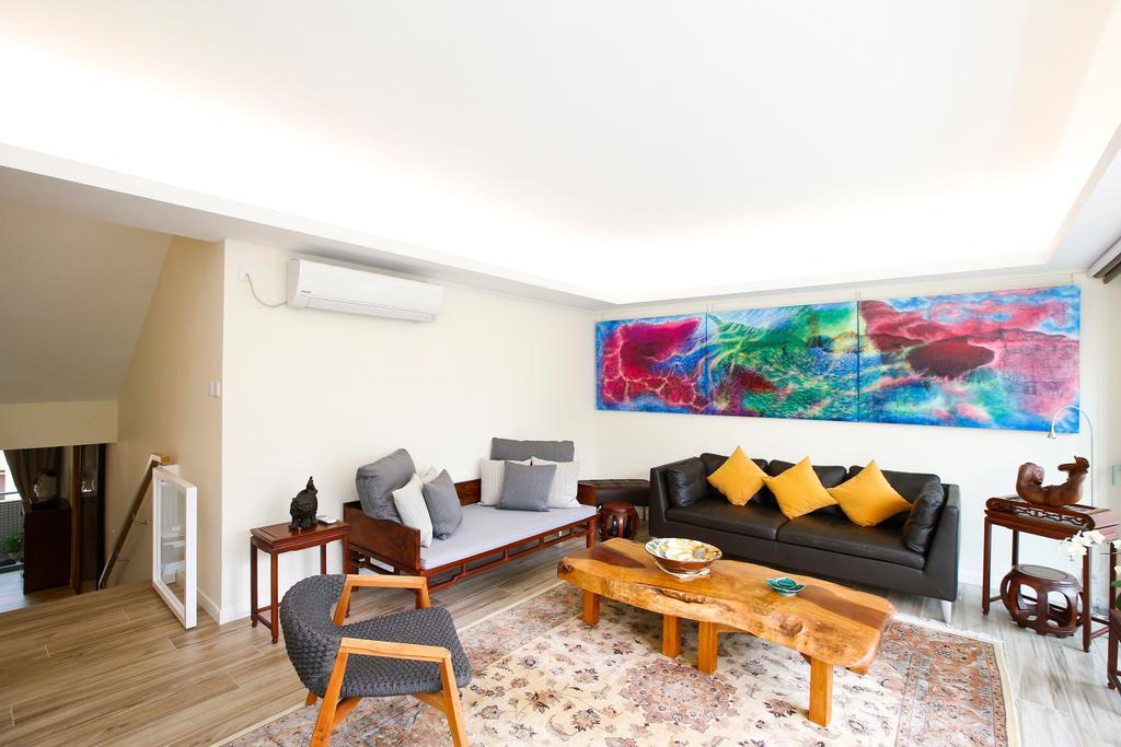 隨性, 獨立屋, 客廳, 湖景花園, 室內設計師, 和生設計, Couch, Furniture, Indoors, Interior Design, Dining Table, Table