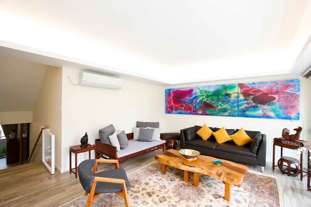 湖景花園, 和生設計, 隨性, 客廳, 獨立屋, Couch, Furniture, Indoors, Interior Design, Dining Table, Table