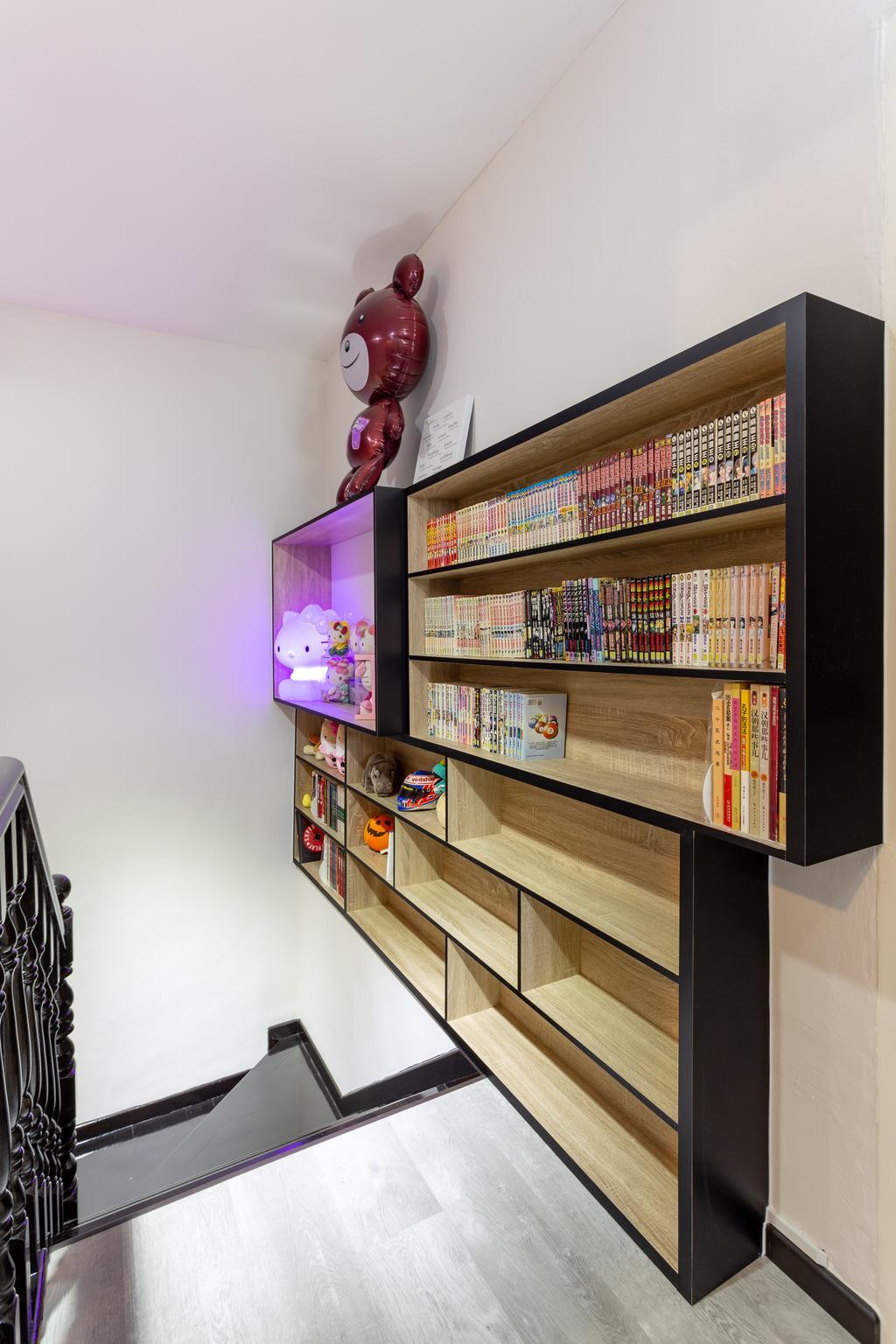 Modern, HDB, Bishan Street 22, Interior Designer, The Design Practice, Bookcase, Furniture, Shelf, Indoors, Interior Design, Library, Room