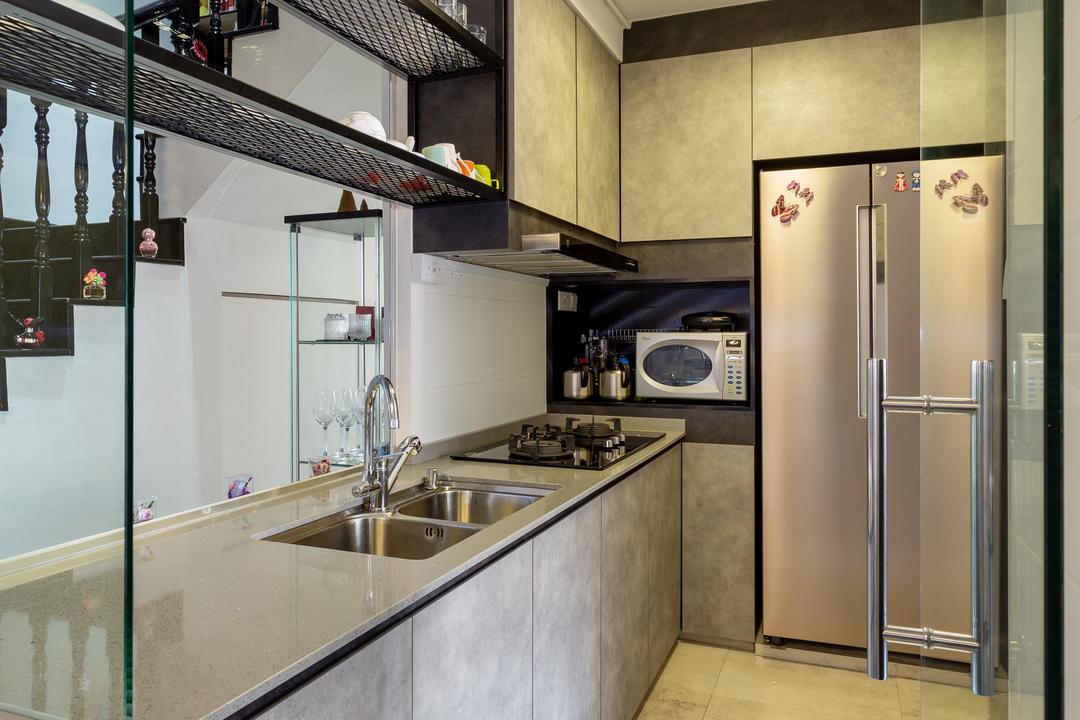 Bishan Street 22, The Design Practice, Modern, Kitchen, HDB, Appliance, Electrical Device, Fridge, Refrigerator