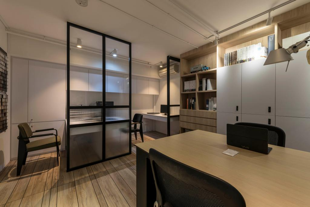 Lavender Street, Commercial, Interior Designer, Briey Interior, Contemporary, Bookcase, Furniture, Bench, Dining Room, Indoors, Interior Design, Room, Office