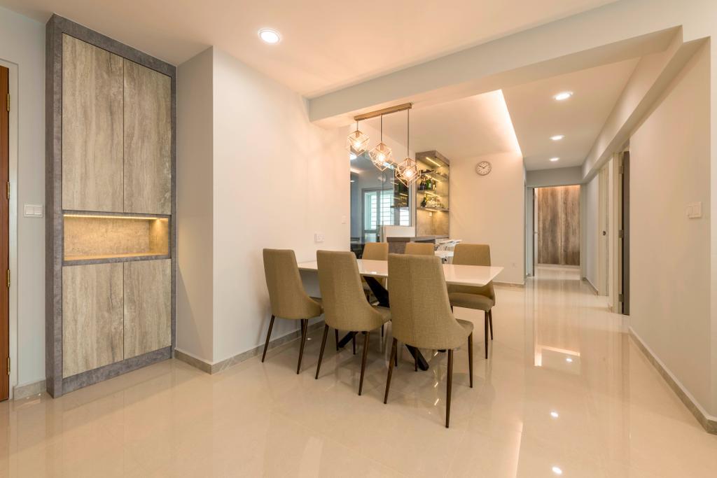 Modern, HDB, Dining Room, Boon Lay Avenue, Interior Designer, DS 2000 Interior & Design, Chair, Furniture, Dining Table, Table, Indoors, Interior Design, Room