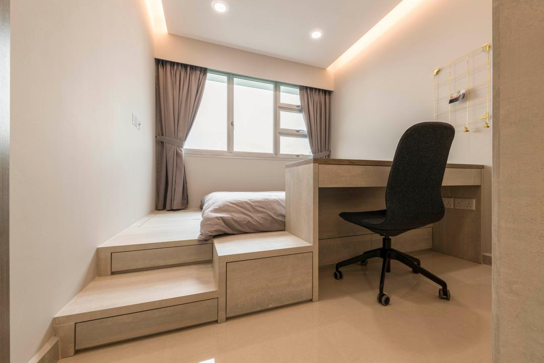 Boon Lay Avenue, DS 2000 Interior & Design, Modern, Bedroom, HDB, Chair, Furniture, Bed, Indoors, Interior Design