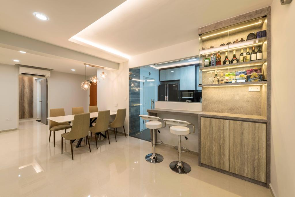 Modern, HDB, Dining Room, Boon Lay Avenue, Interior Designer, DS 2000 Interior & Design, Chair, Furniture, Dining Table, Table, Couch, Indoors, Interior Design